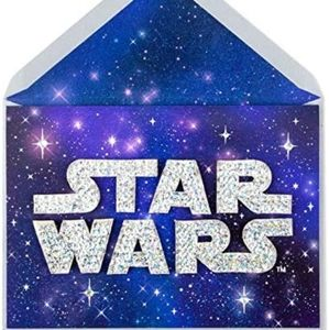 Papyrus Sparkling Star Wars Birthday Card